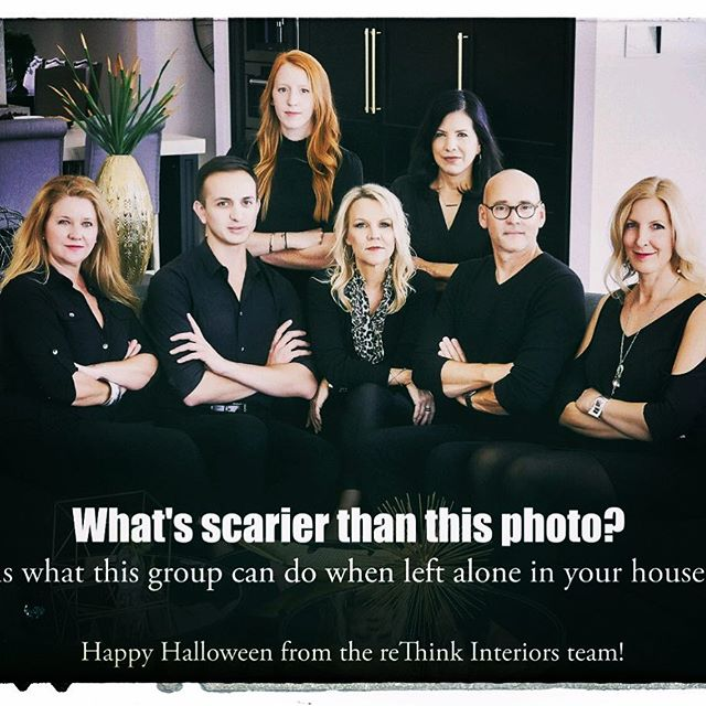 Happy Halloween from the ReThink Interiors Design Team.  #rethinkinteriorsandlifestyle