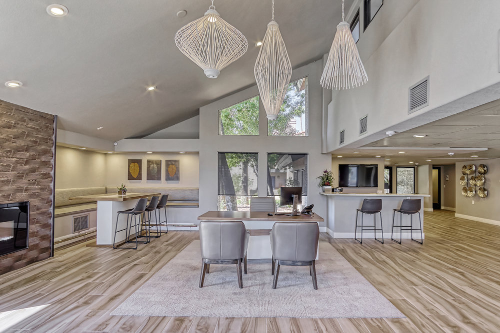 rethink Interiors-Fountain Palms leasing office