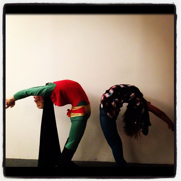 Halloween Yoga. :) w/ @veesaidshesaid    Happy Halloween All!   & Welcome to November! :)
