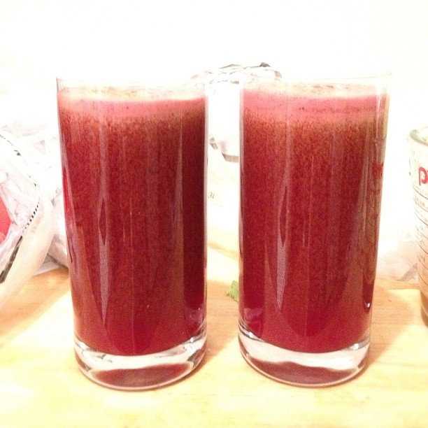 The finished product! A mean red juice :) (Taken with  instagram )