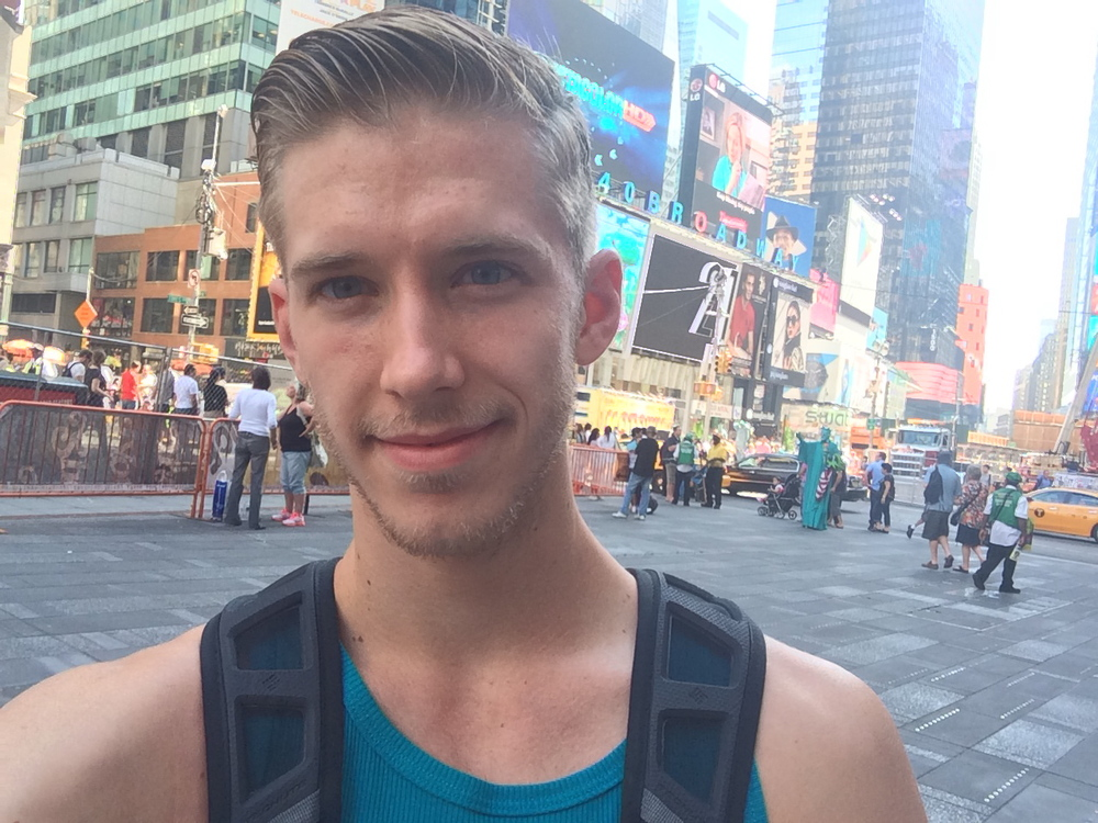 Eoin Thomas Sharkey in Times Square September 3rd, 2014.