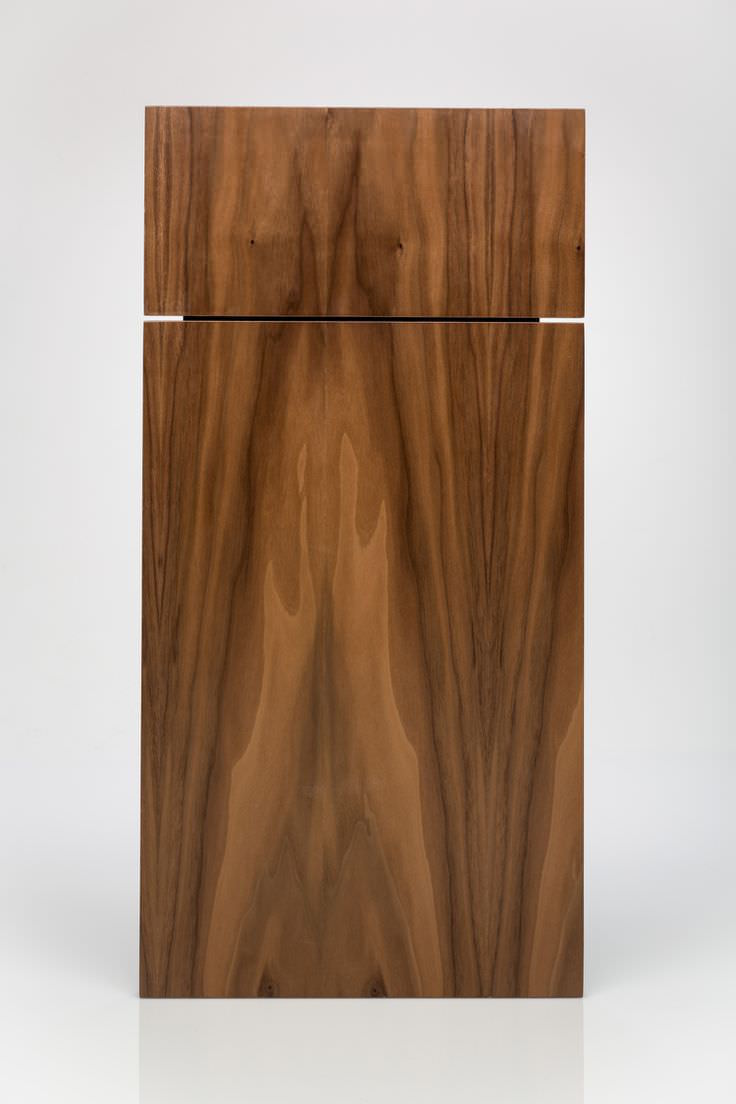 Flat-sawn walnut door for IKEA cabinets from Kokeena