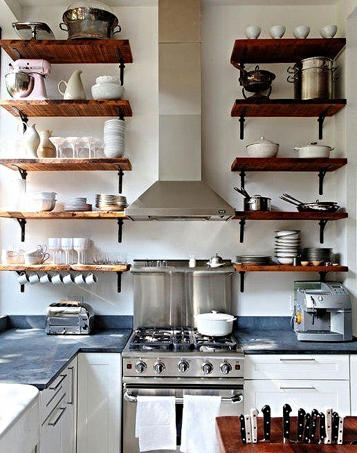 perfect open shelving