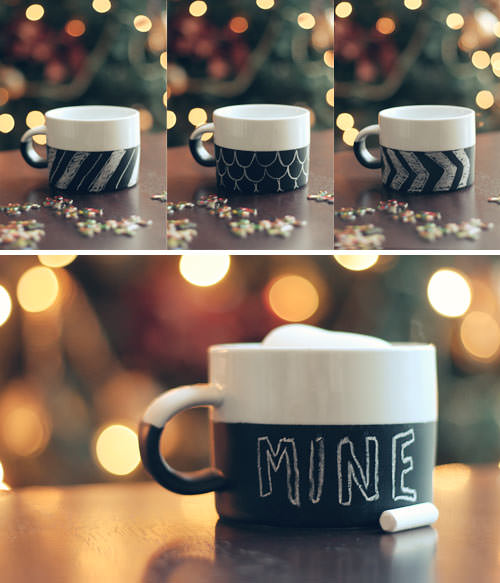 Chalkboard Paint mugs? So cool!