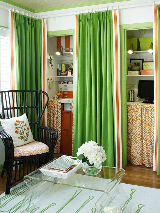 home-office-with-green-curtains