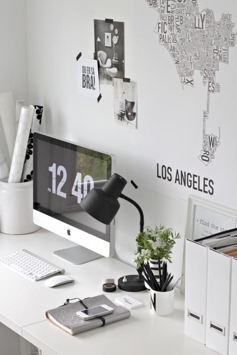 white-desk-organized-map-wallpaper
