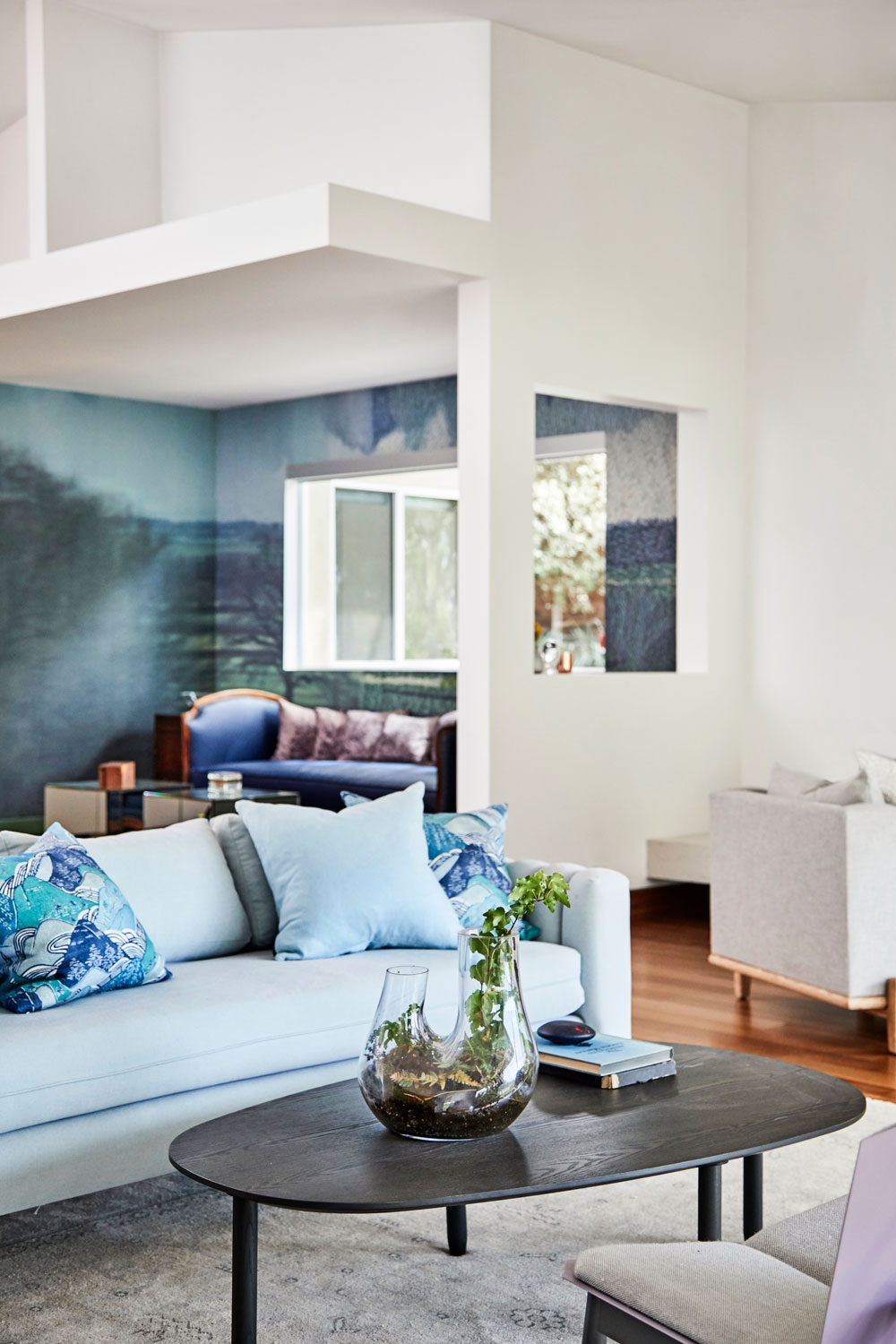 We took our color cues from the home's beautiful surroundings.