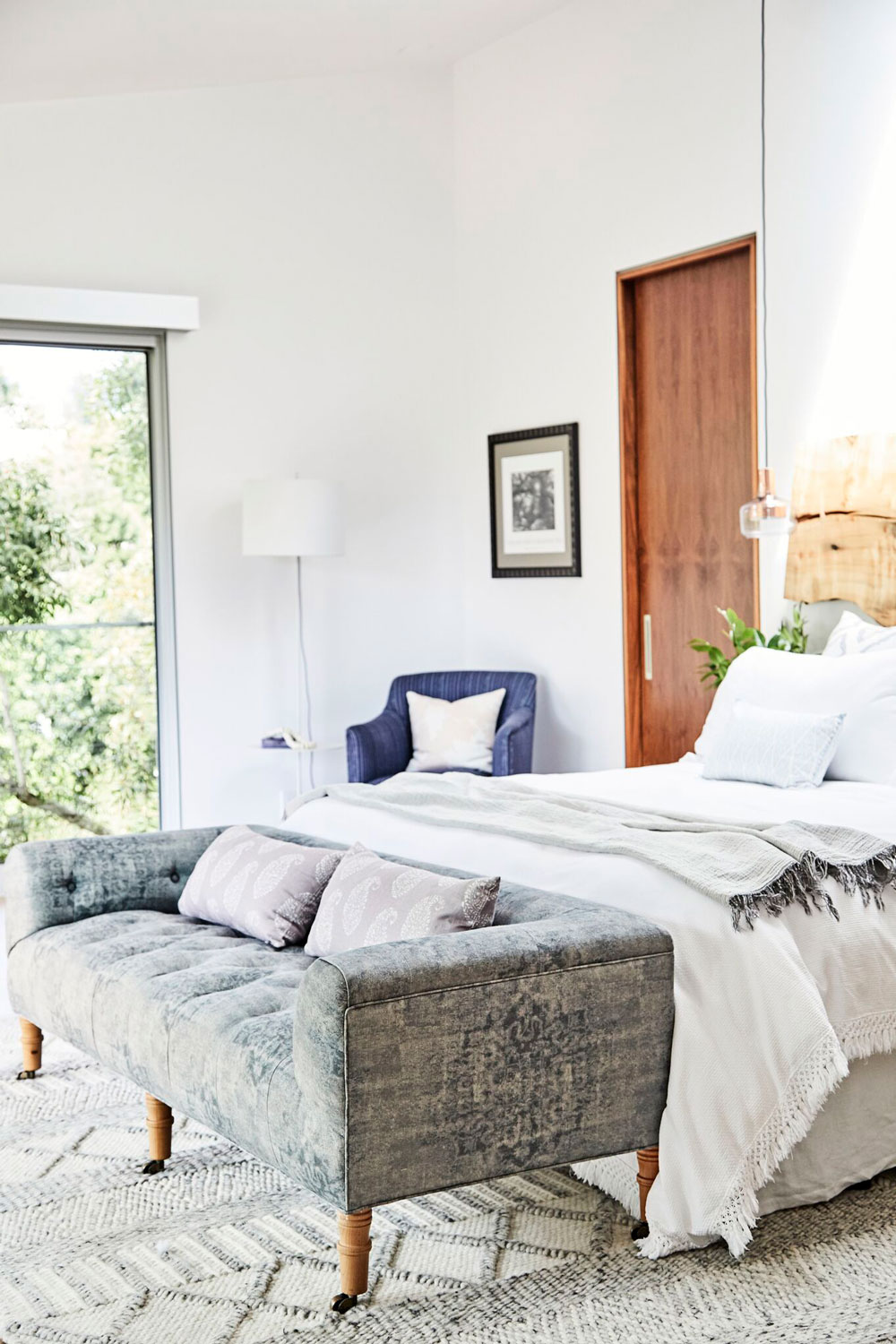 Serene was the order of the day for this master bedroom.