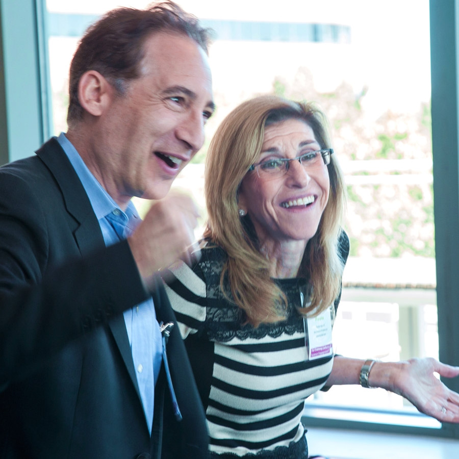 Physicist, author and NOVA host  Brian Greene and NOVA senior executive producer Paula Apsell were among 74 communicators, educators, researchers, and funders at the workshop. Photo: Lisa Abitbol