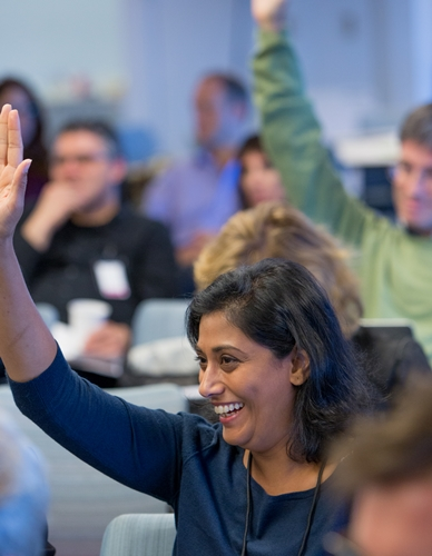 Seattle-based public engagement professional Meena Selvakumar was one of a half-dozen museum-based participants at the convening. Photo: Lisa Abitbol
