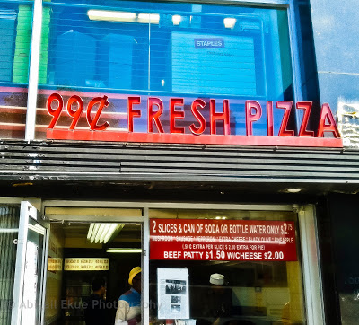 99 Cent Fresh Pizza On 6th Avenue In New York
