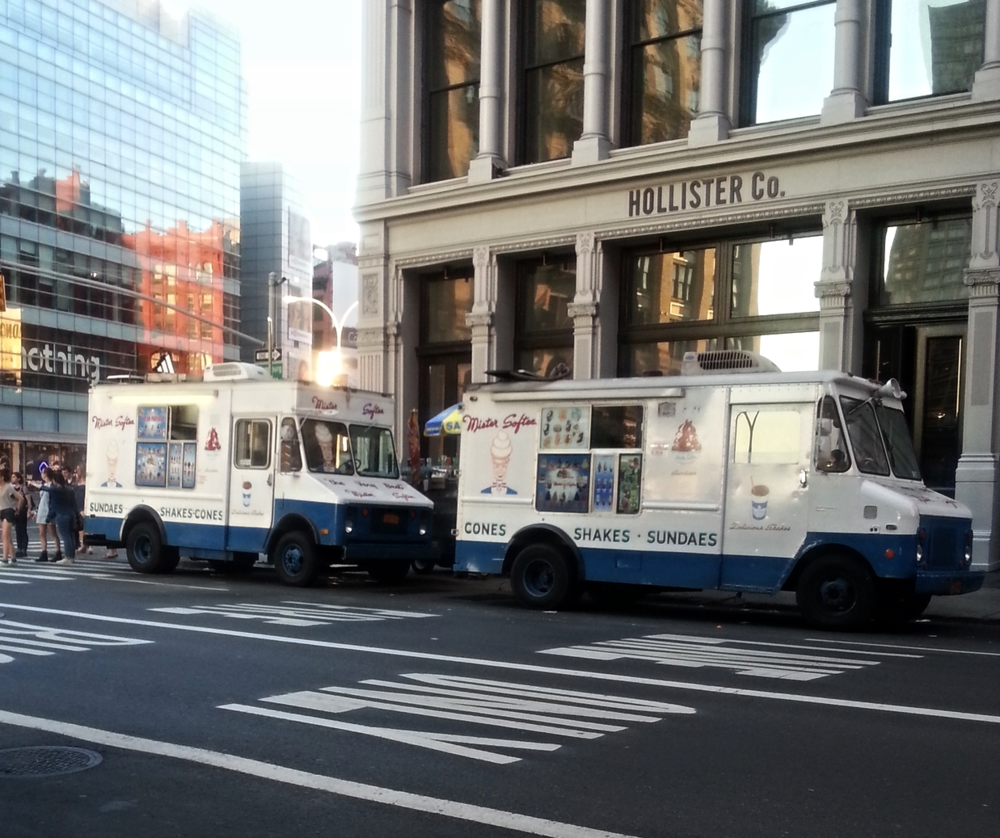 There's only room for Mister Softee in NY ( Source )