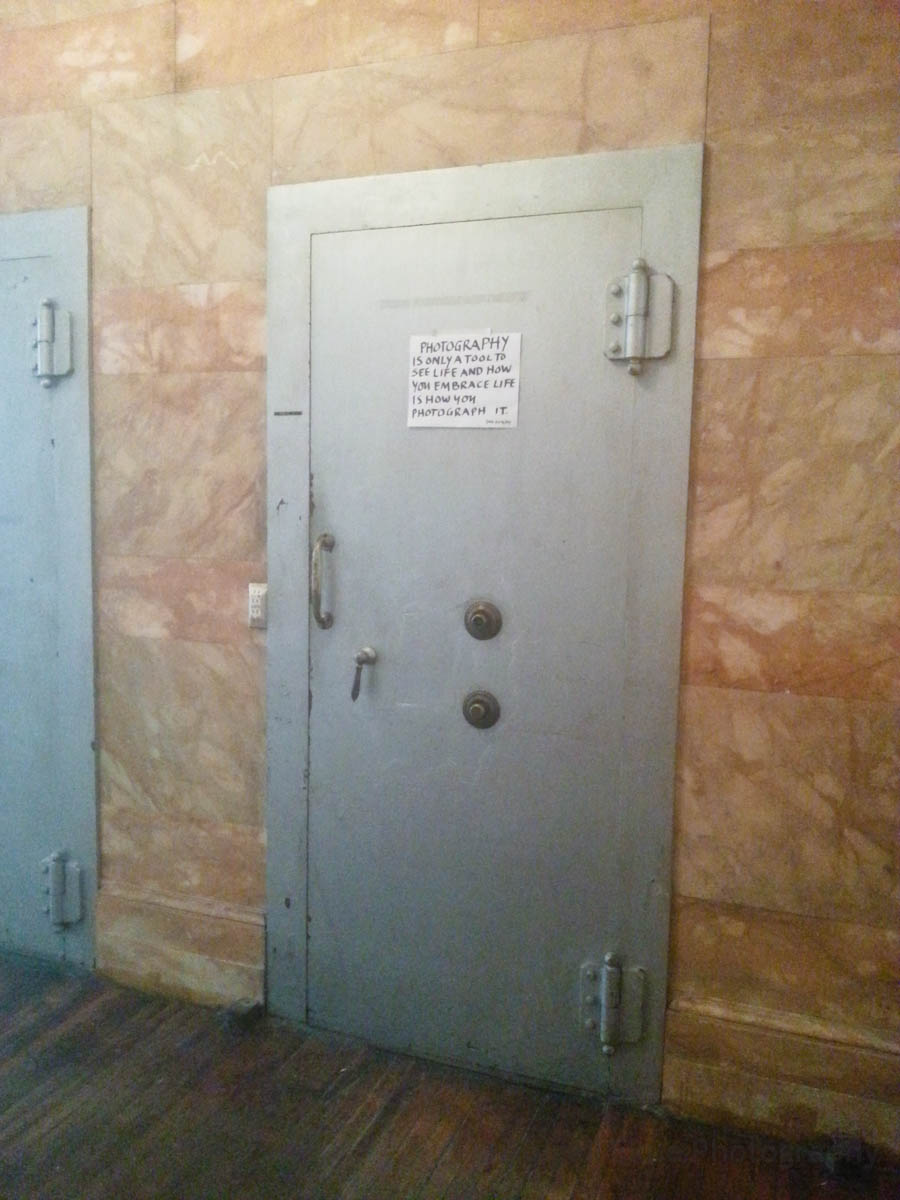 Bank vault doors inside 190 Bowery