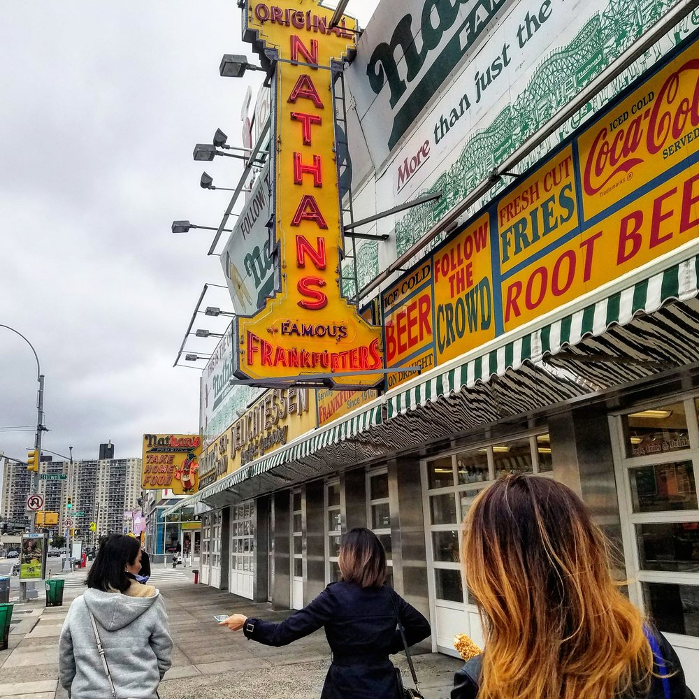 Nathan's Famous Hot dogs on Coney Island