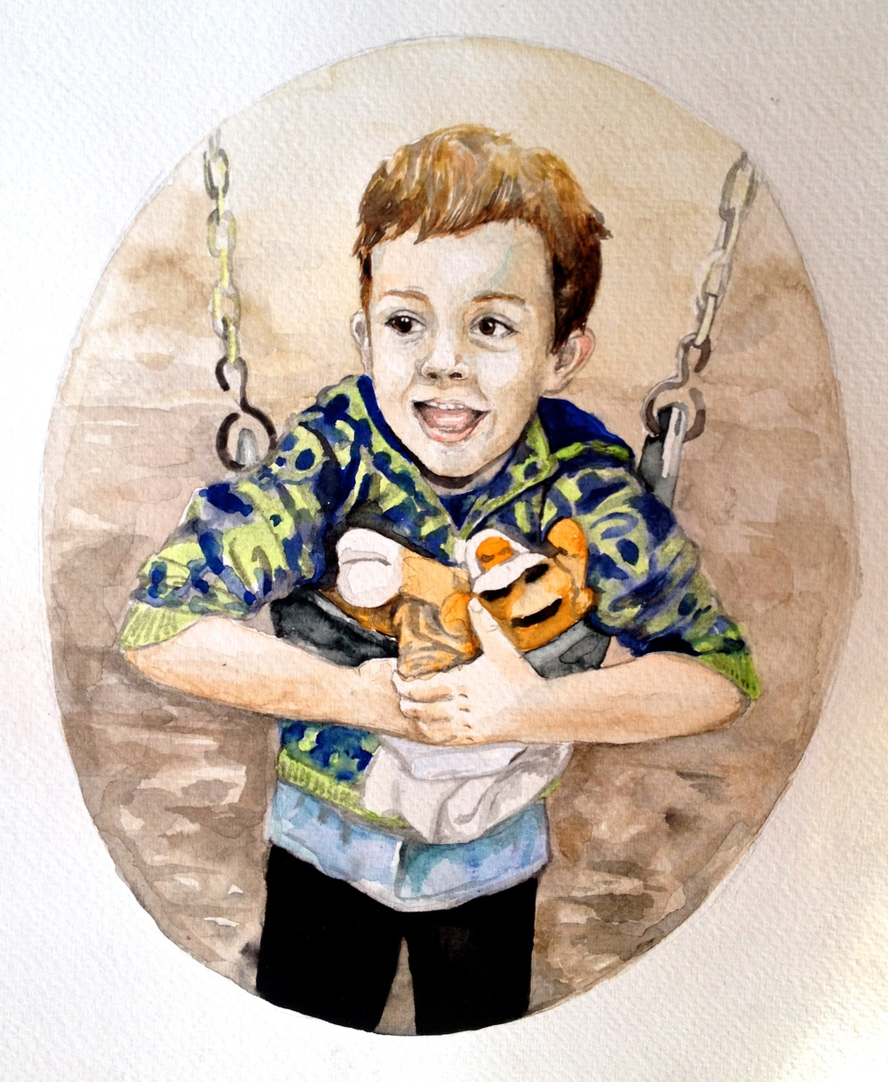locke in watercolor, for meghan and nick