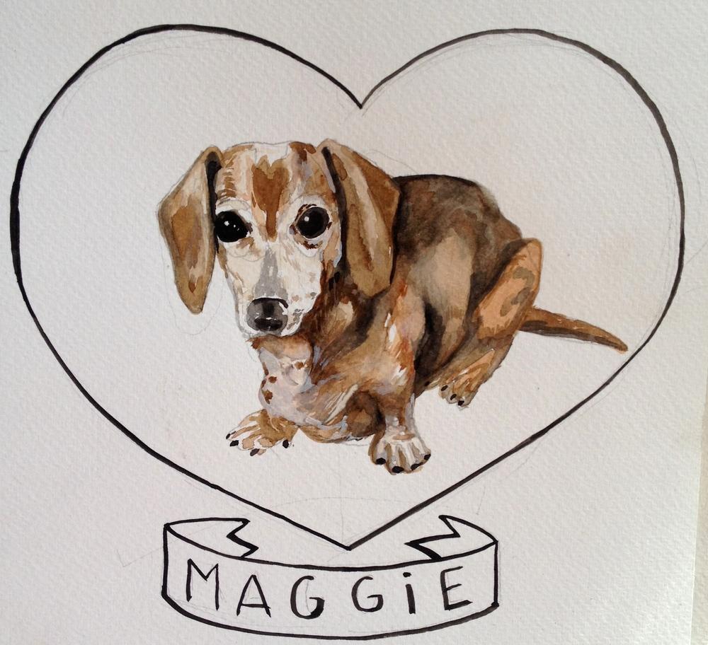 hot dog maggie, for meghan