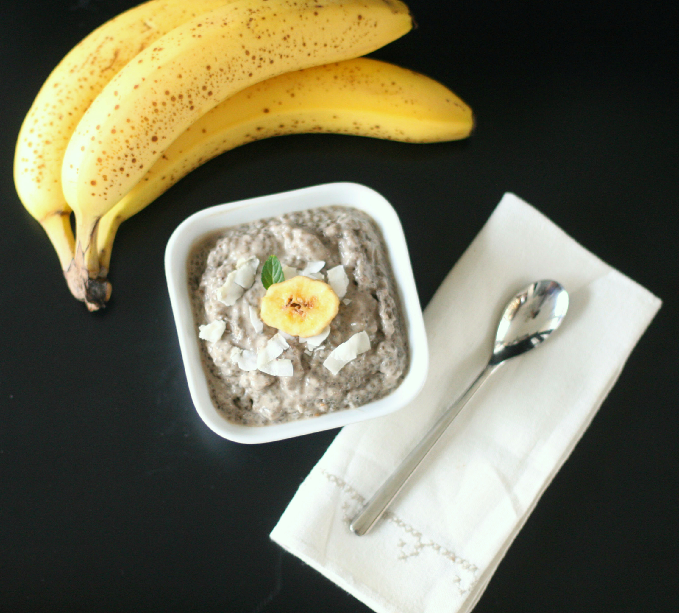 Produce on Parade: Banana Coconut Cream Chia Pudding with Cardamom