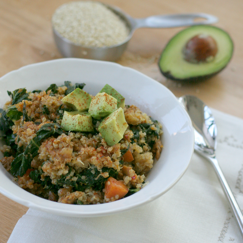 Produce on Parade: Sweet Potato, Kale and Sausage with Quinoa