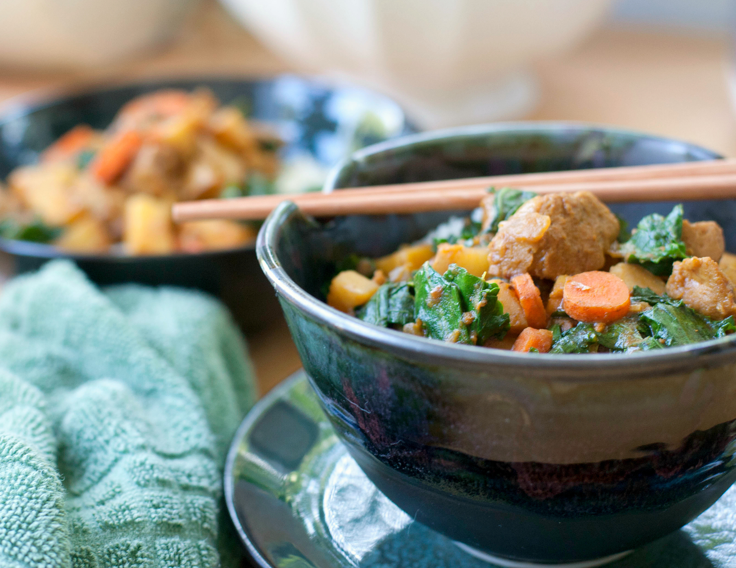 Produce On Parade - Easy Vegetable & Seitan Curry