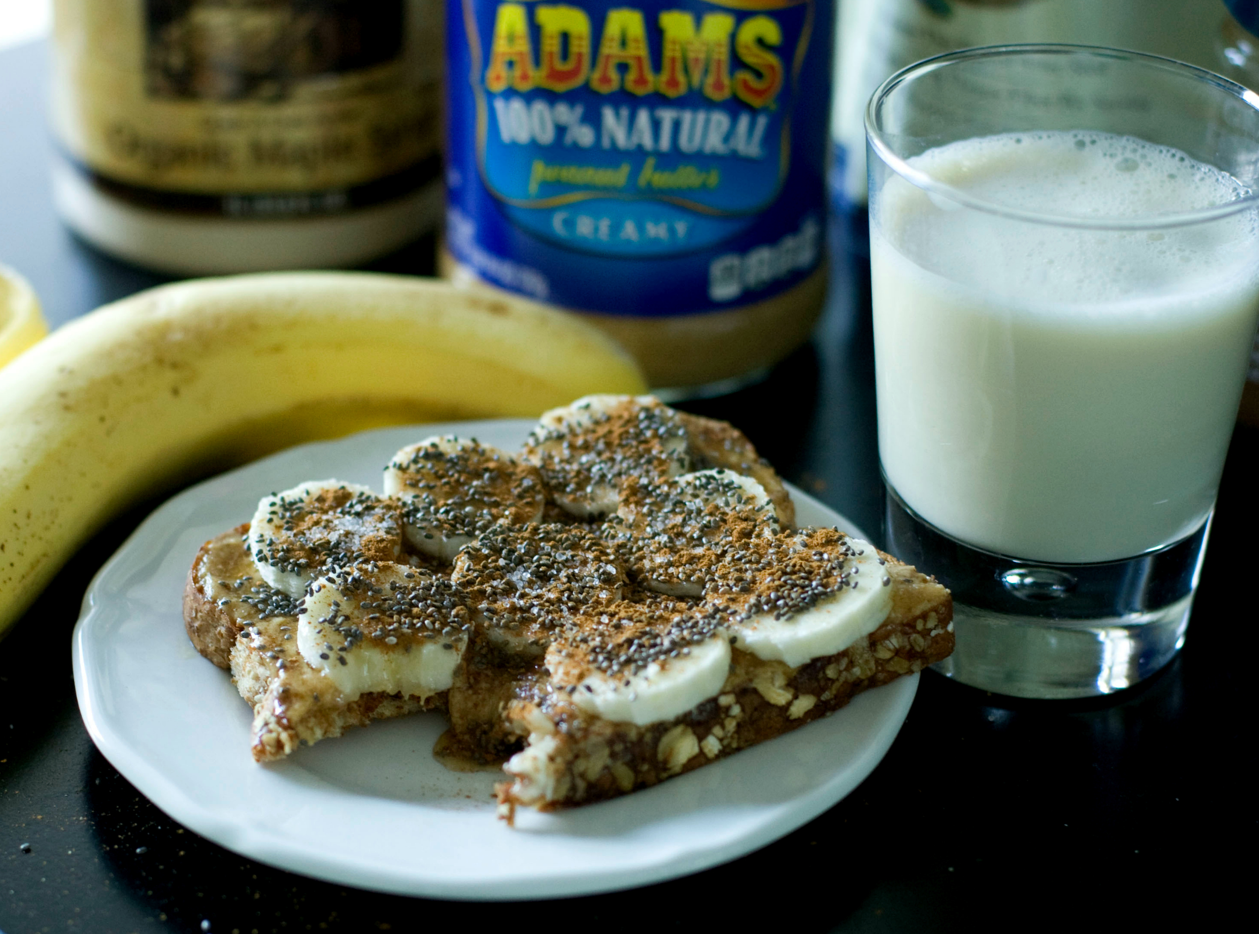 Produce On Parade: Cinnamon Bananas On Maple Peanut Butter Toast