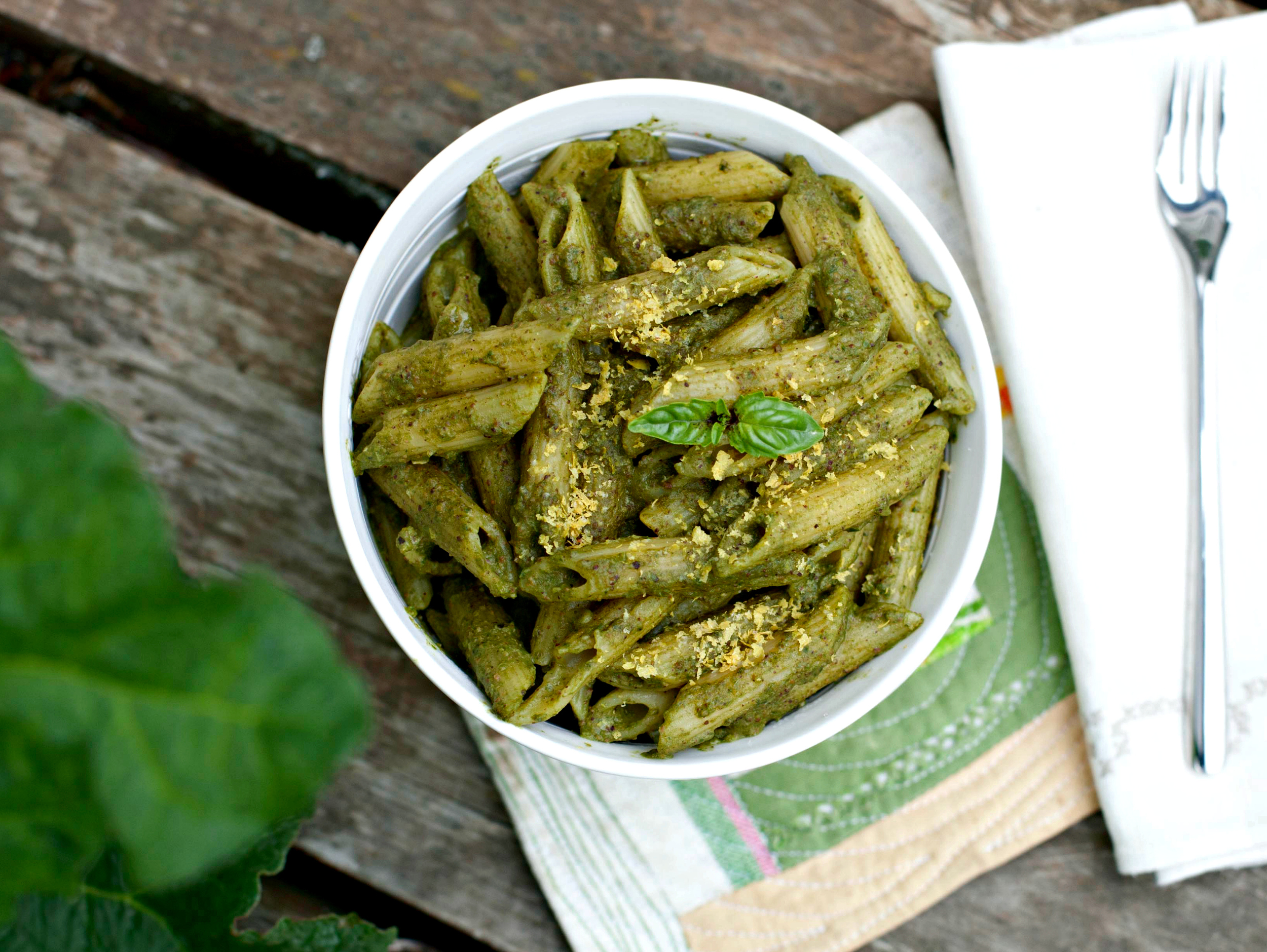 Produce On Parade: Frugal Kale Pesto Pasta