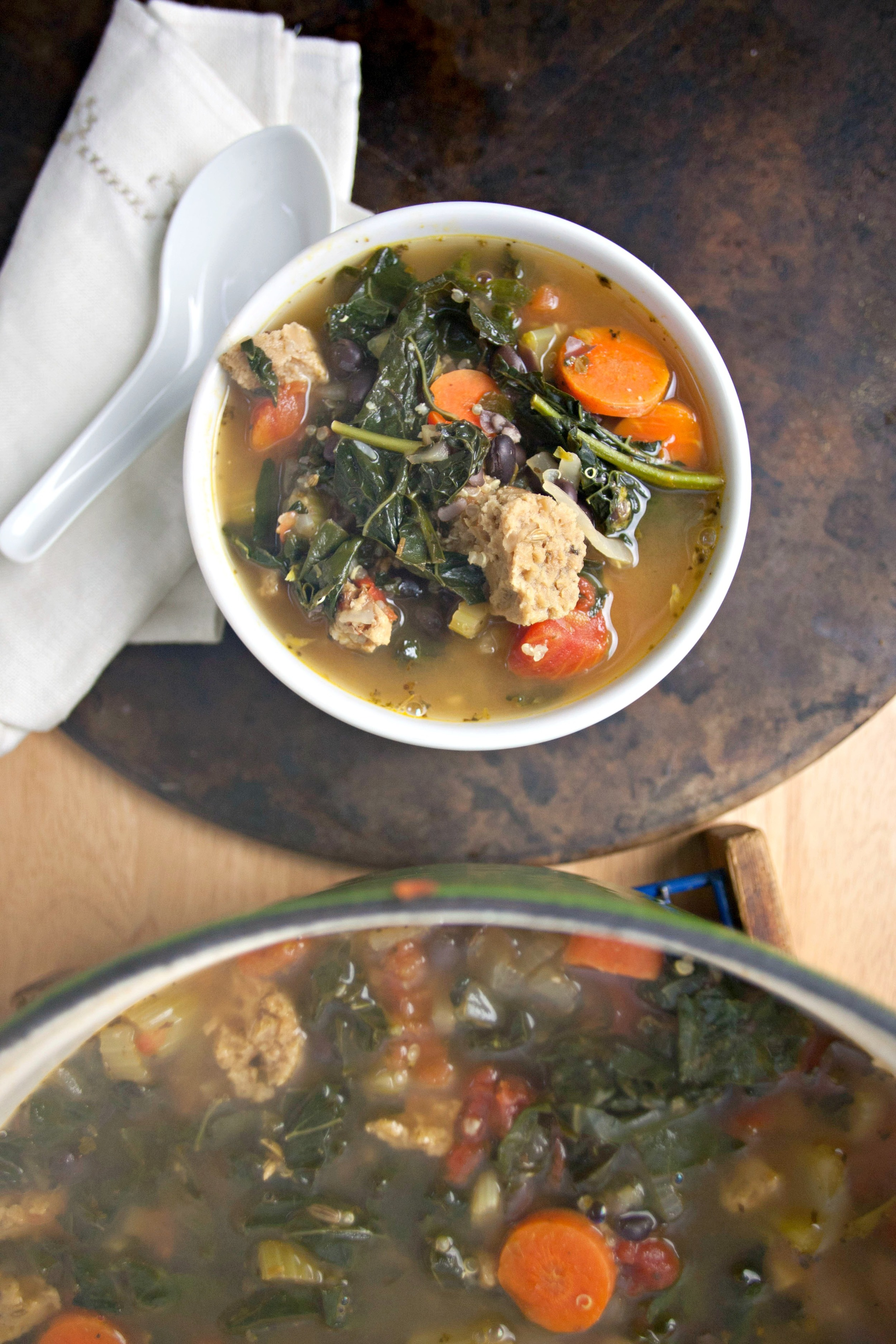 Produce On Parade - Kale, Quinoa and Black Bean Soup with Italian Sausage
