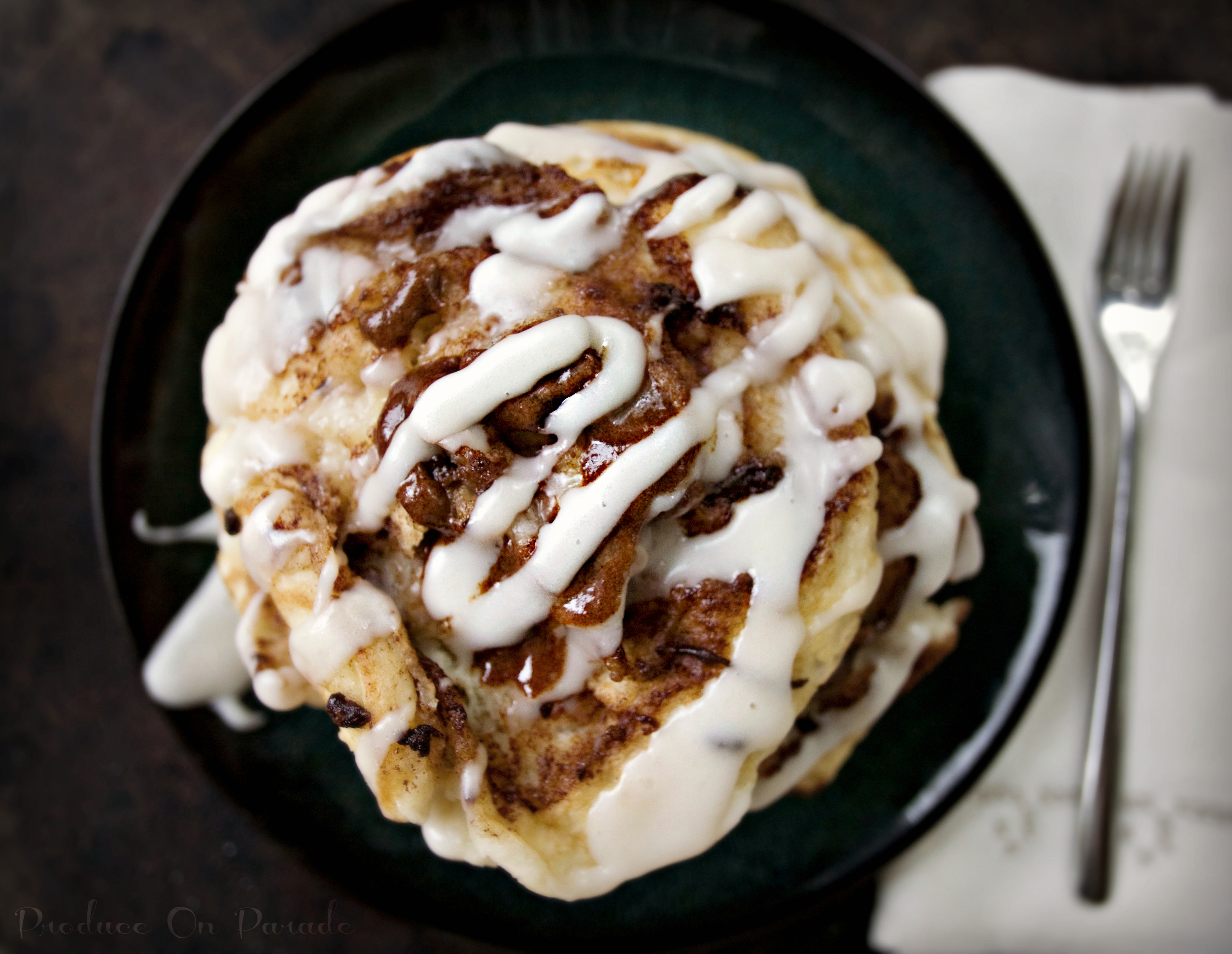 Produce On Parade - Coconutty Cinnamon Roll Pancakes