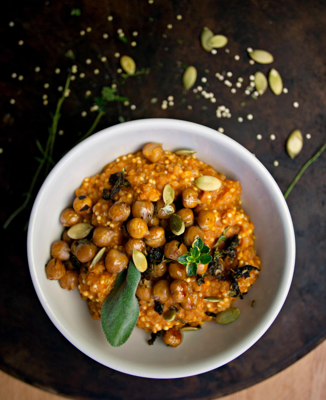 Produce On Parade - Sage Maple Chickpeas + Creamy Pumpkin Quinoa & Millet