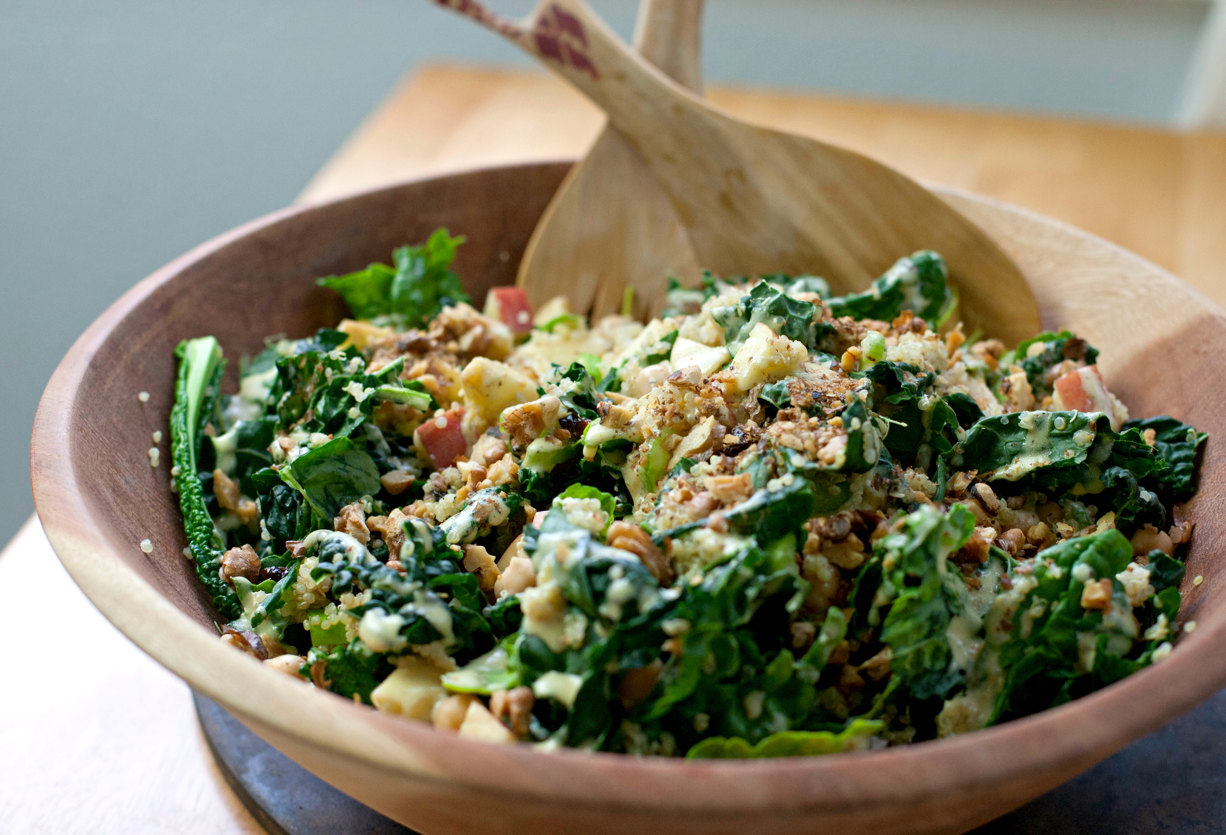 Produce On Parade - Kale and Quinoa Waldorf Salad with Chickpeas