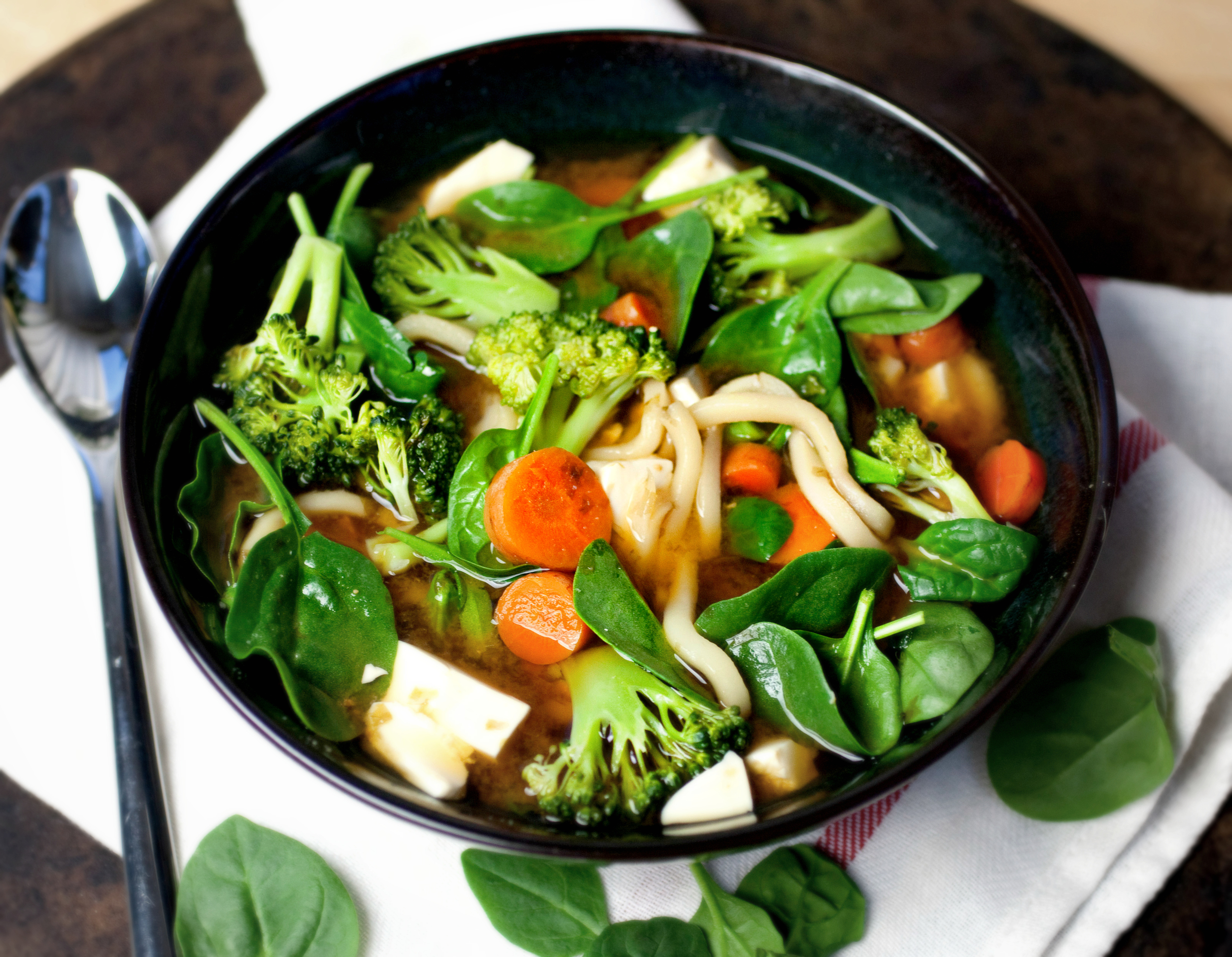 Produce On Parade - Veggie Miso Udon Soup