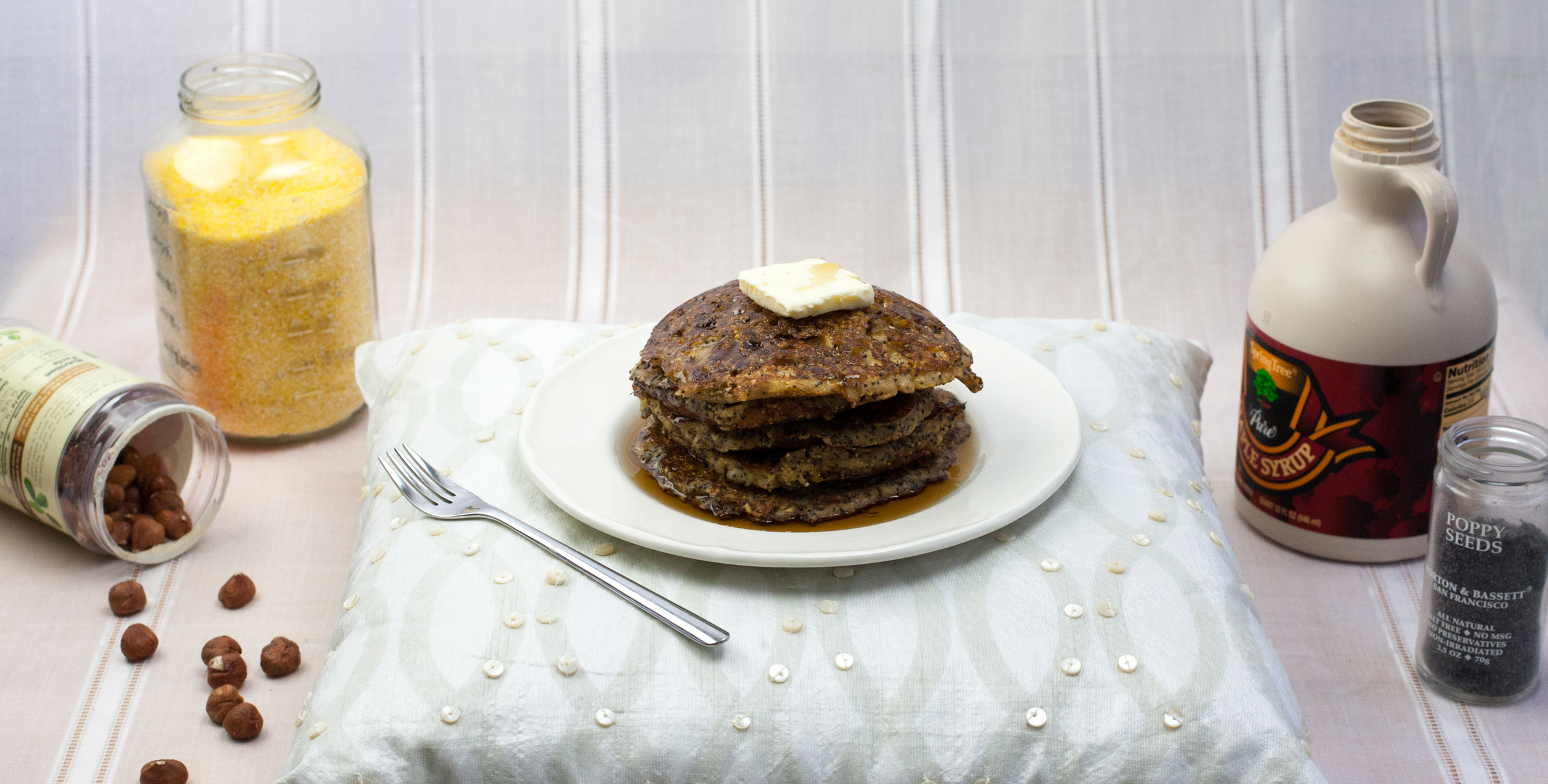 Produce On Parade - Hazelnut Maple and Poppy Seed Spiced Corn Cakes