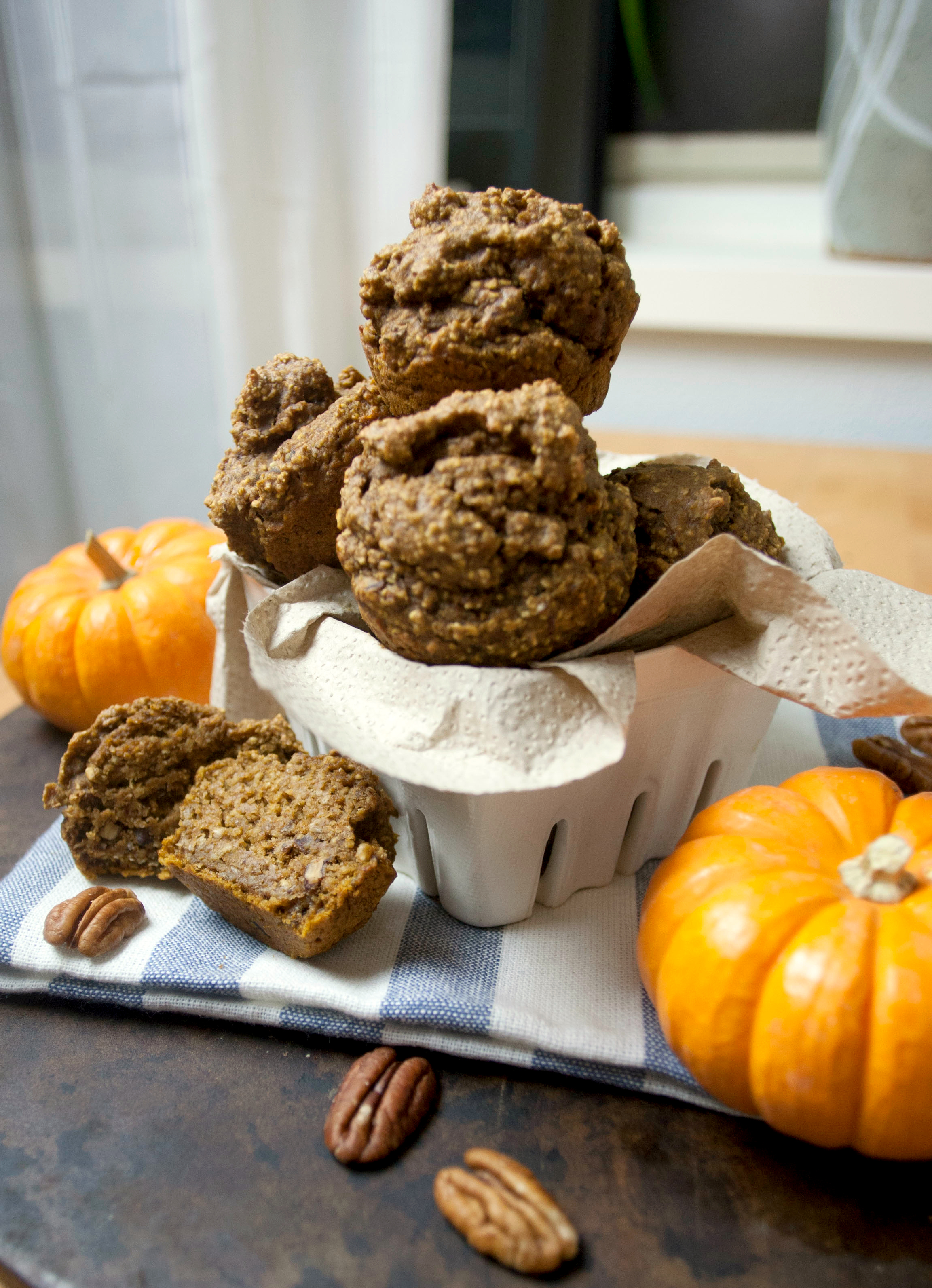 Produce On Parade - Healthy Pumpkin Maple Pecan Oat Muffins