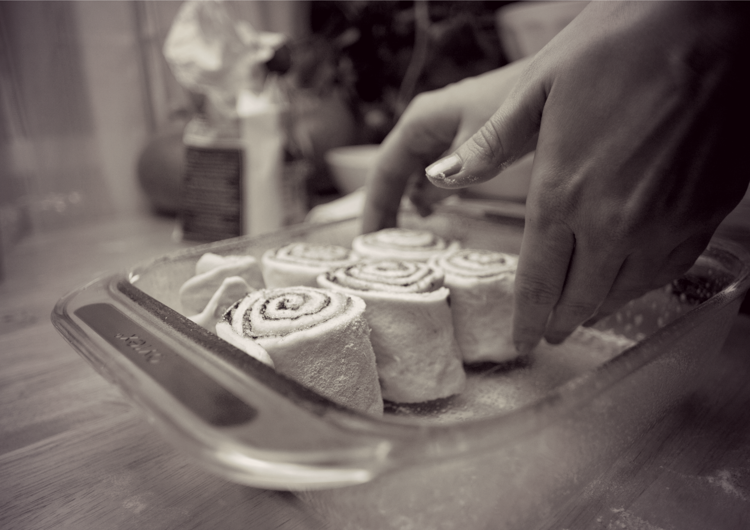 Produce On Parade - Spiced Cinnamon Rolls + Pumpkin Icing