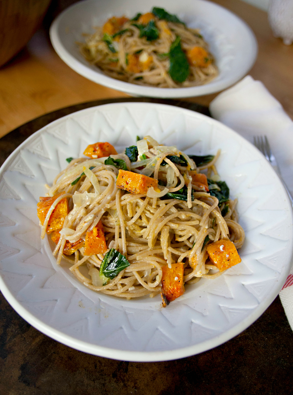 Roasted Butternut and Wilted Rocket Spaghetti Recipe recommend