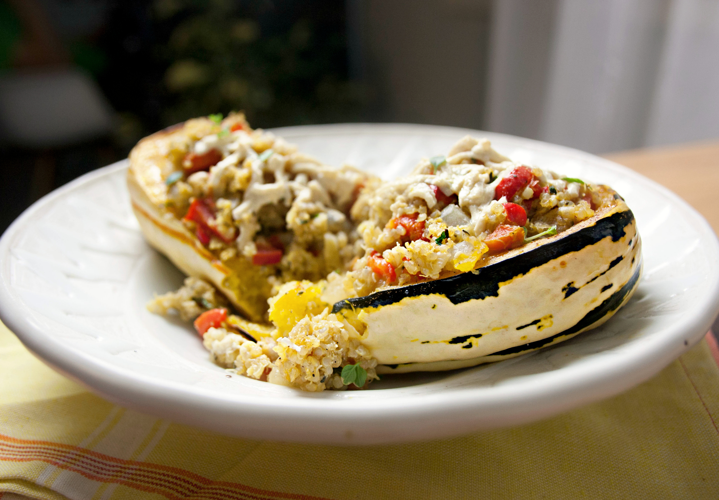 Produce On Parade - Cheesy Stuffed Autumn Delicata Squash