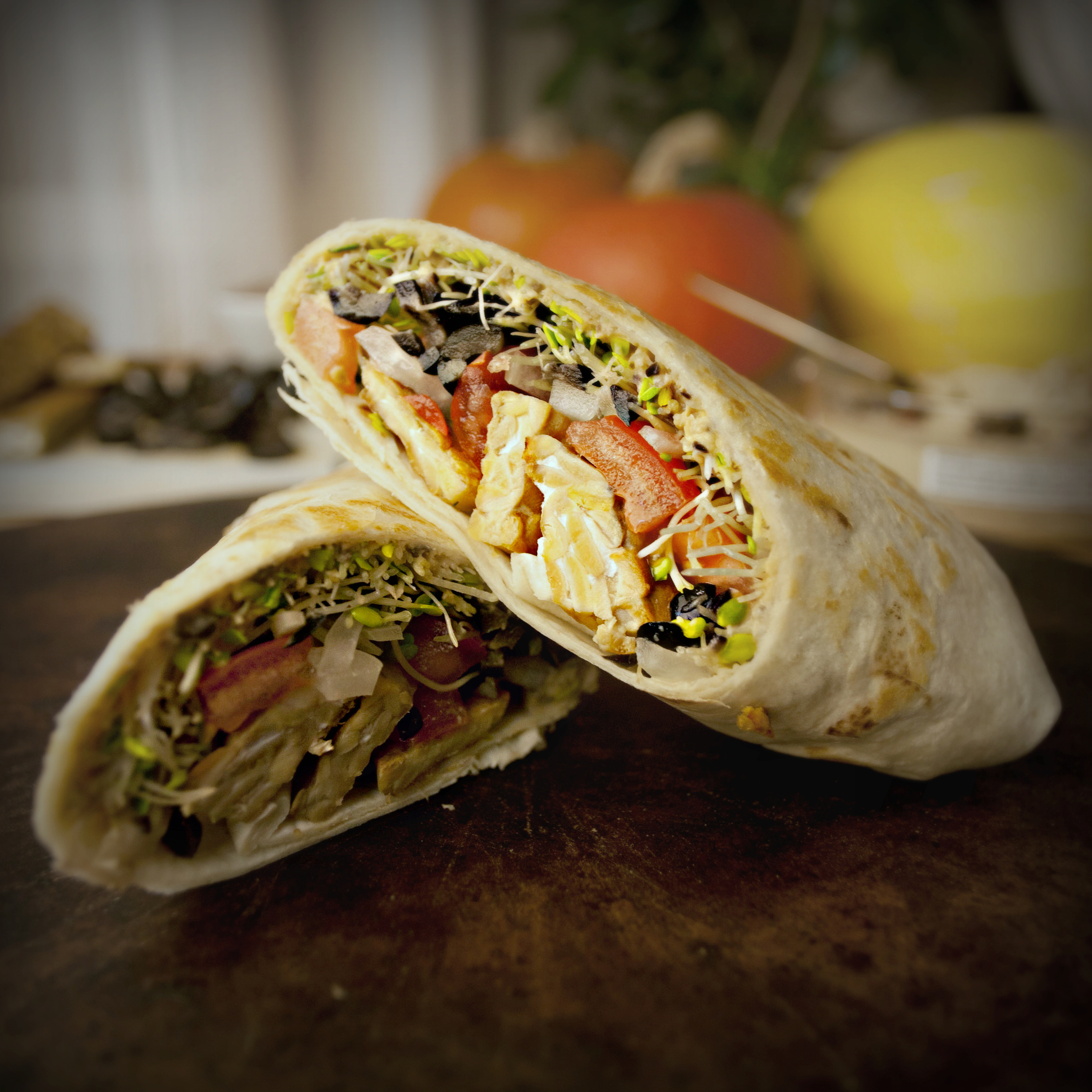 Produce On Parade - High Protein Vegan Veggie Wrap