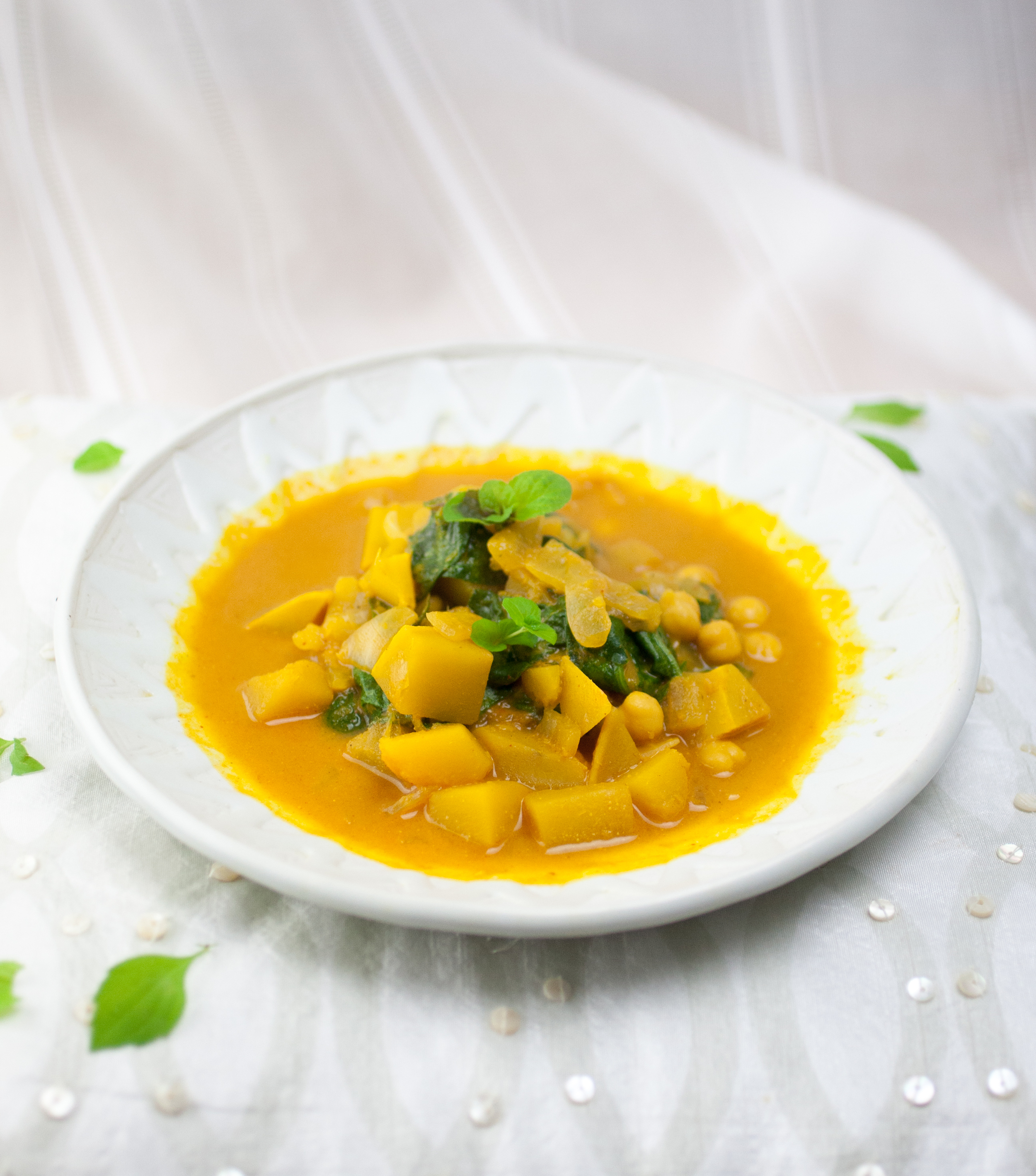 Produce On Parade - Pumpkin Curry Stew with Chickpeas and Spinach