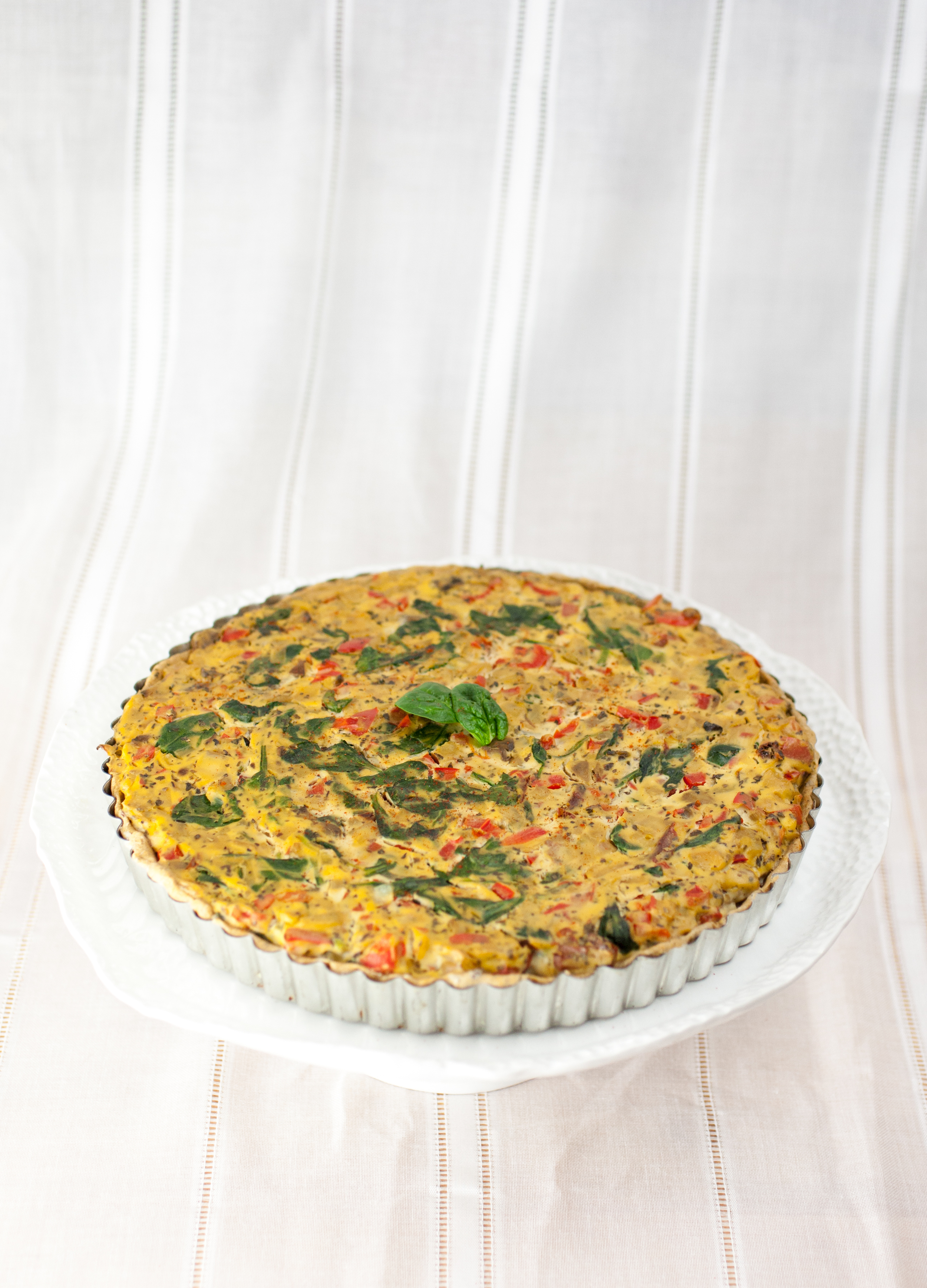 Produce On Parade - Vegetable Quiche + Herbed Crust