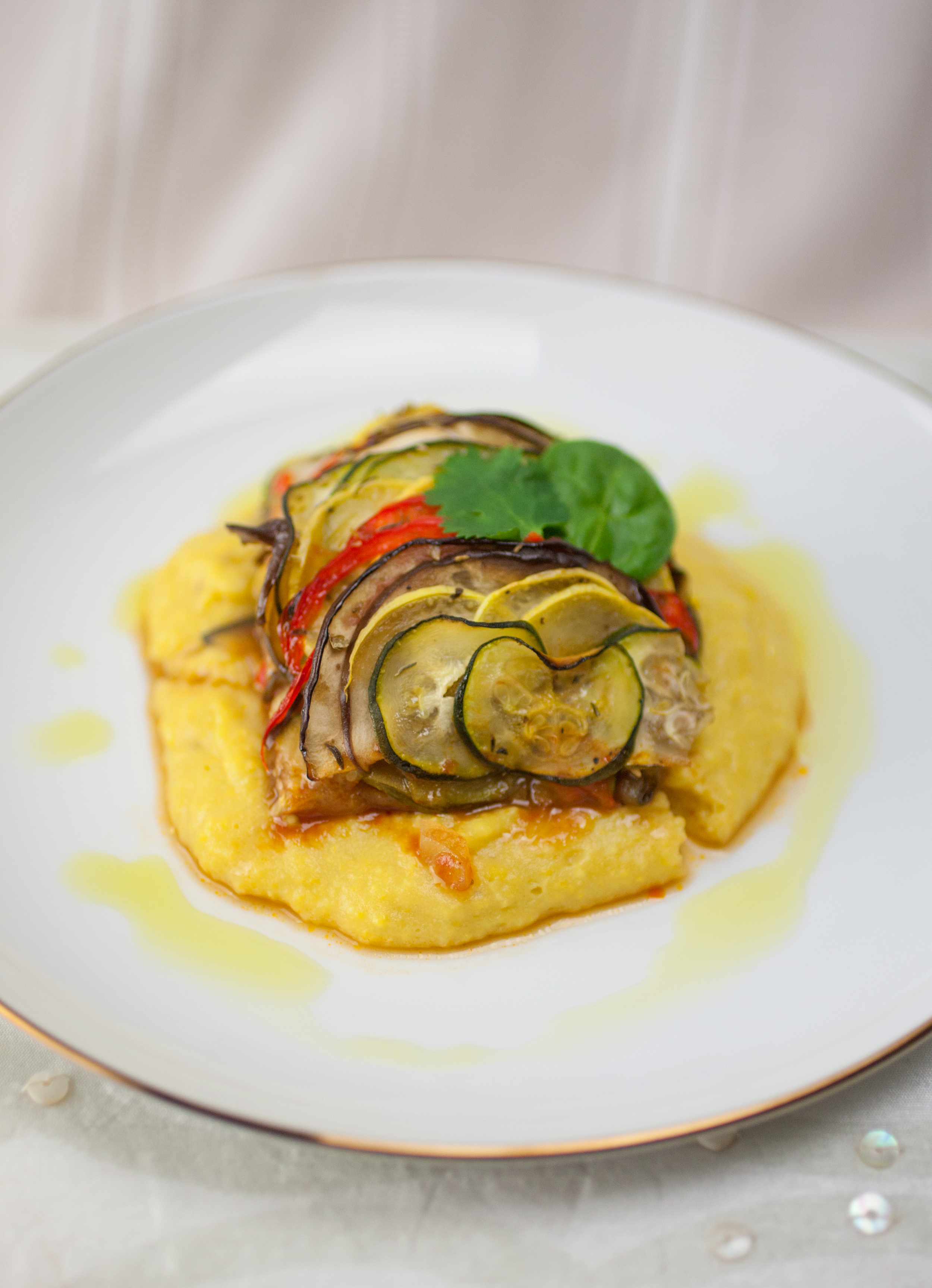 Produce On Parade - Roasted Ratatouille with Polenta