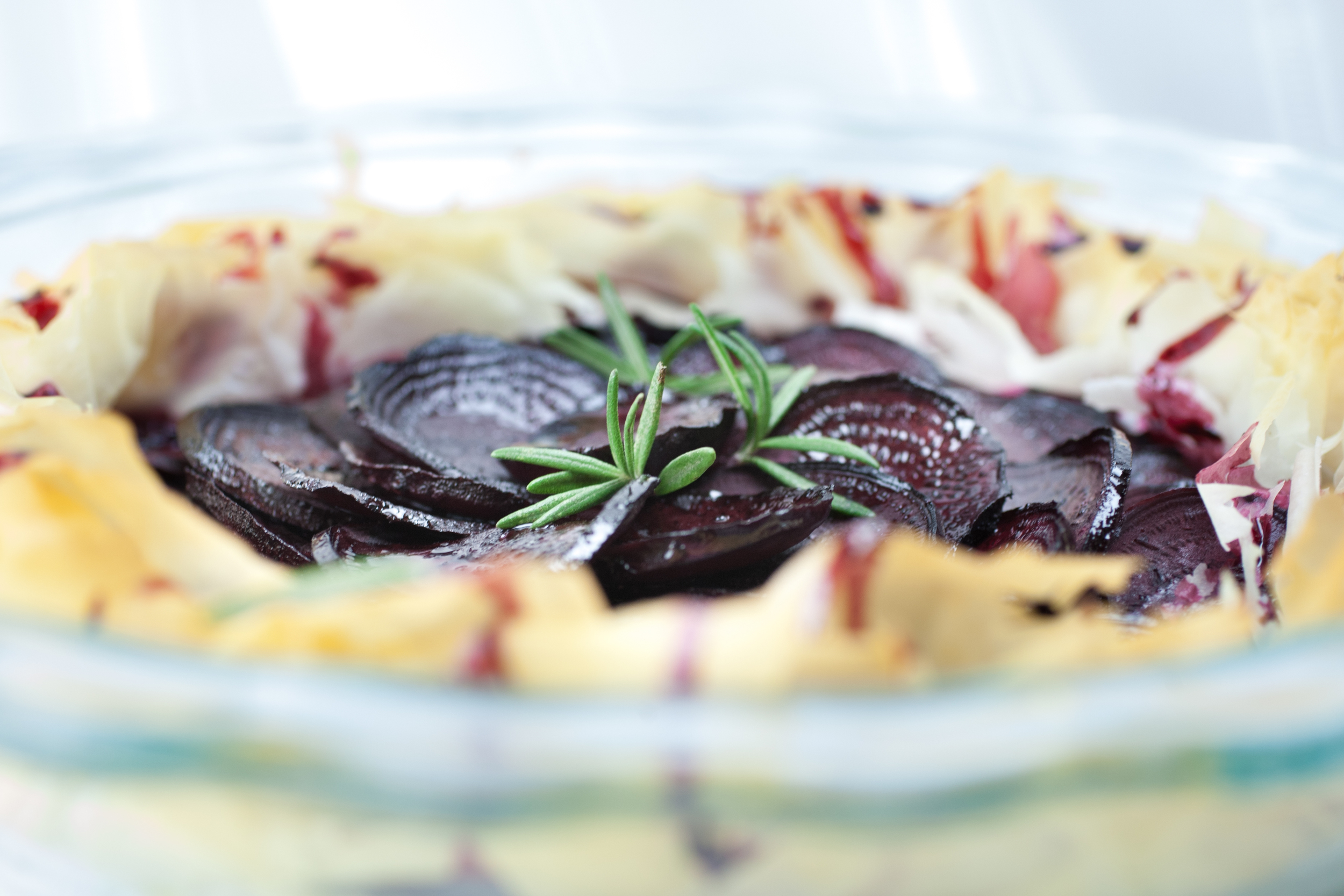 Produce On Parade - Rosemary Balsamic Beet Layered Phyllo Tart