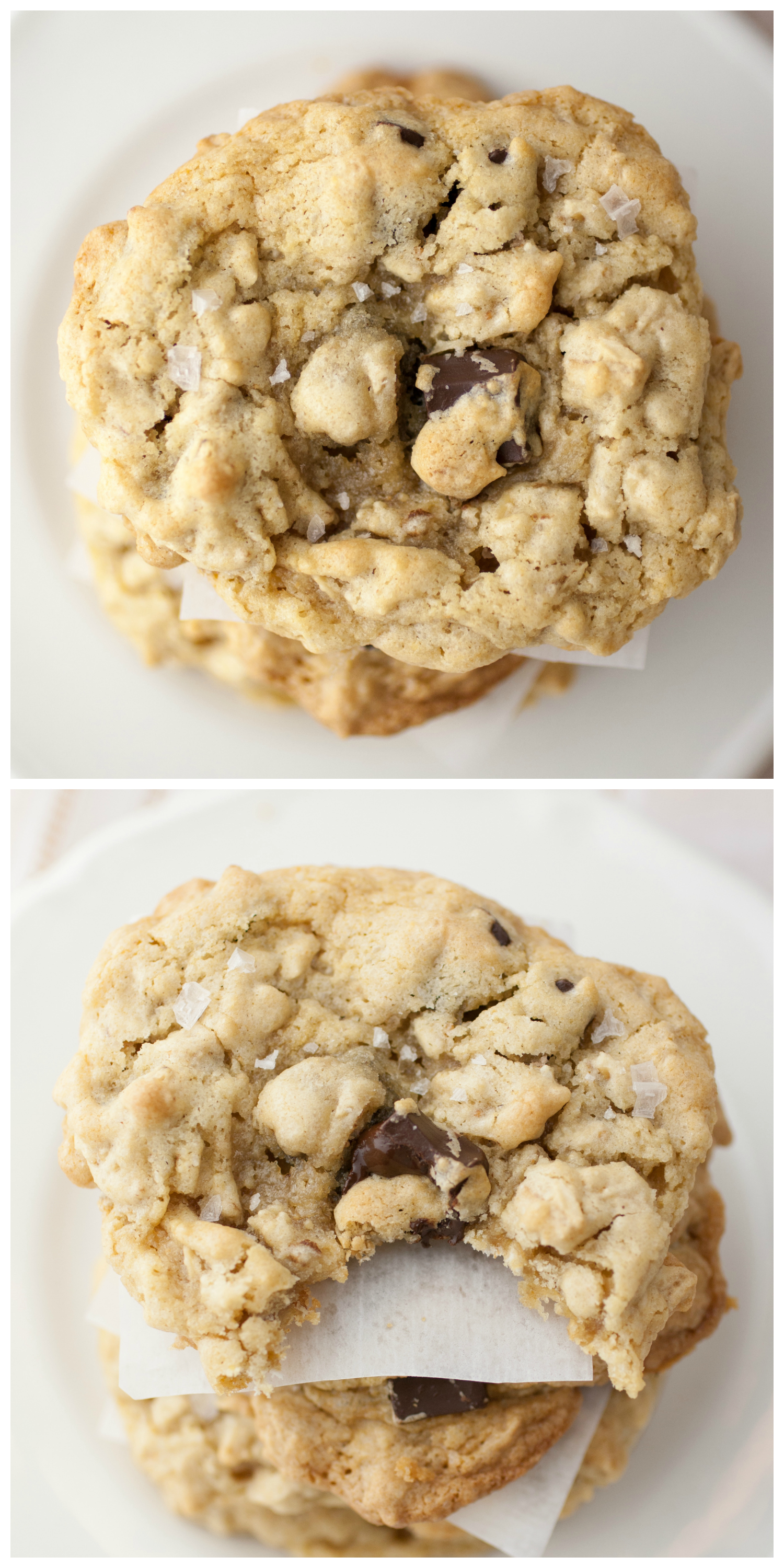 Produce On Parade - Salted Peanut Butter Chocolate Chip Oatmeal Cookies
