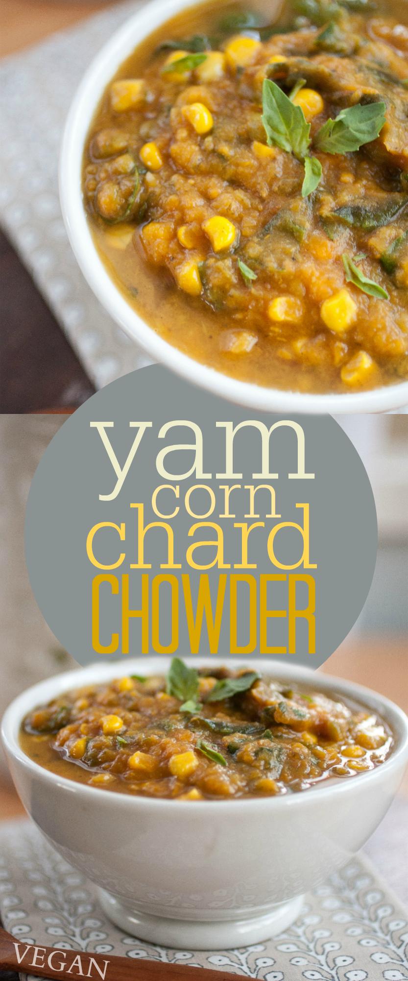 Produce On Parade - Yam, Corn & Chard Chowder
