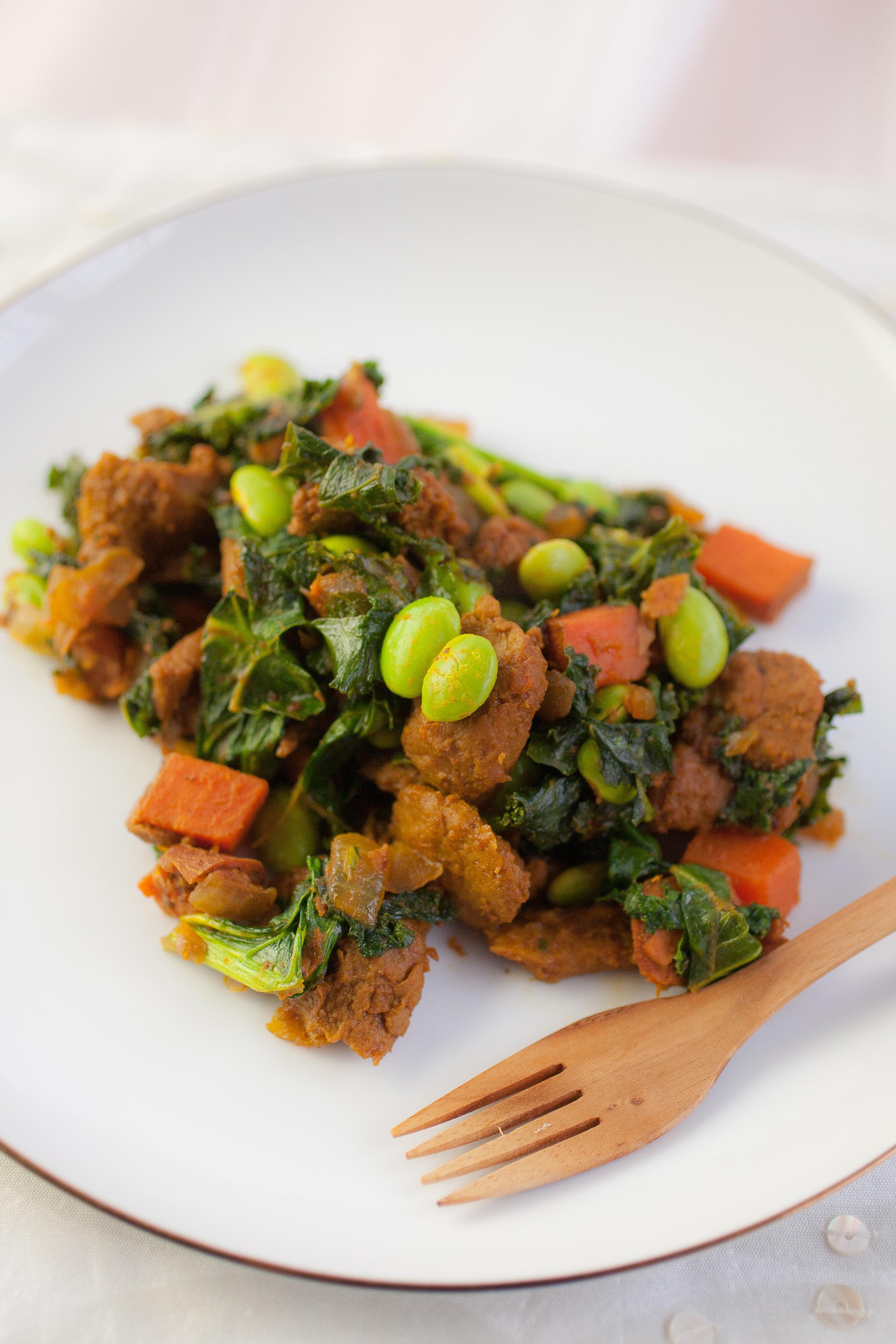 Produce On Parade - Savory Sweet Potato and Kale Hash