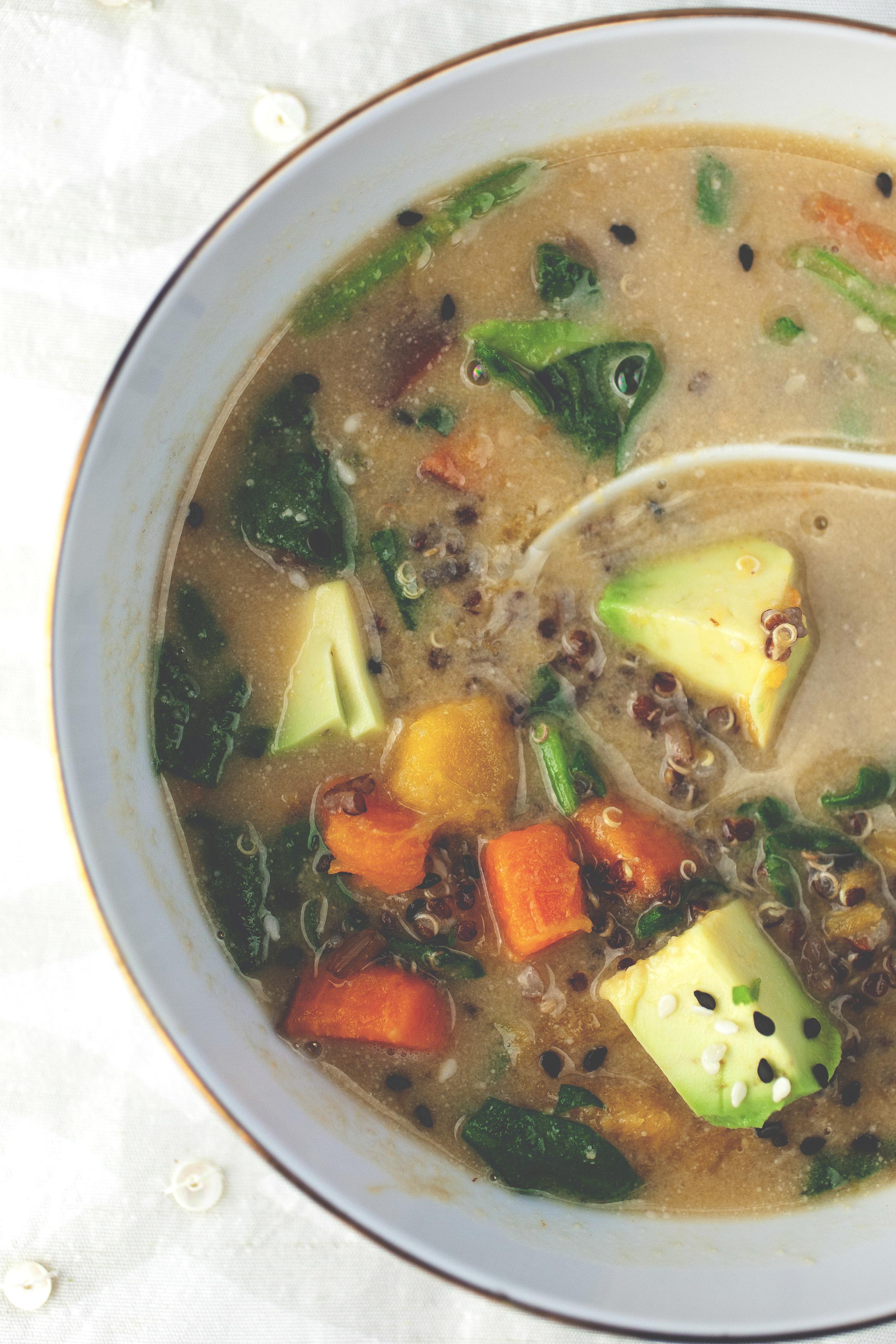 Produce On Parade - Butternut Miso & Quinoa Soup