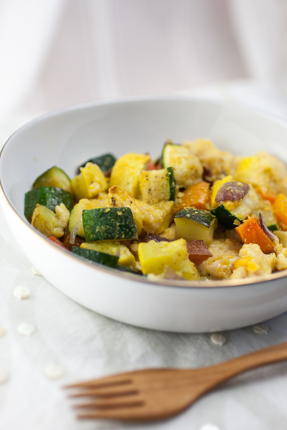 Produce On Parade - Cheesy Polenta with Roasted Vegetables