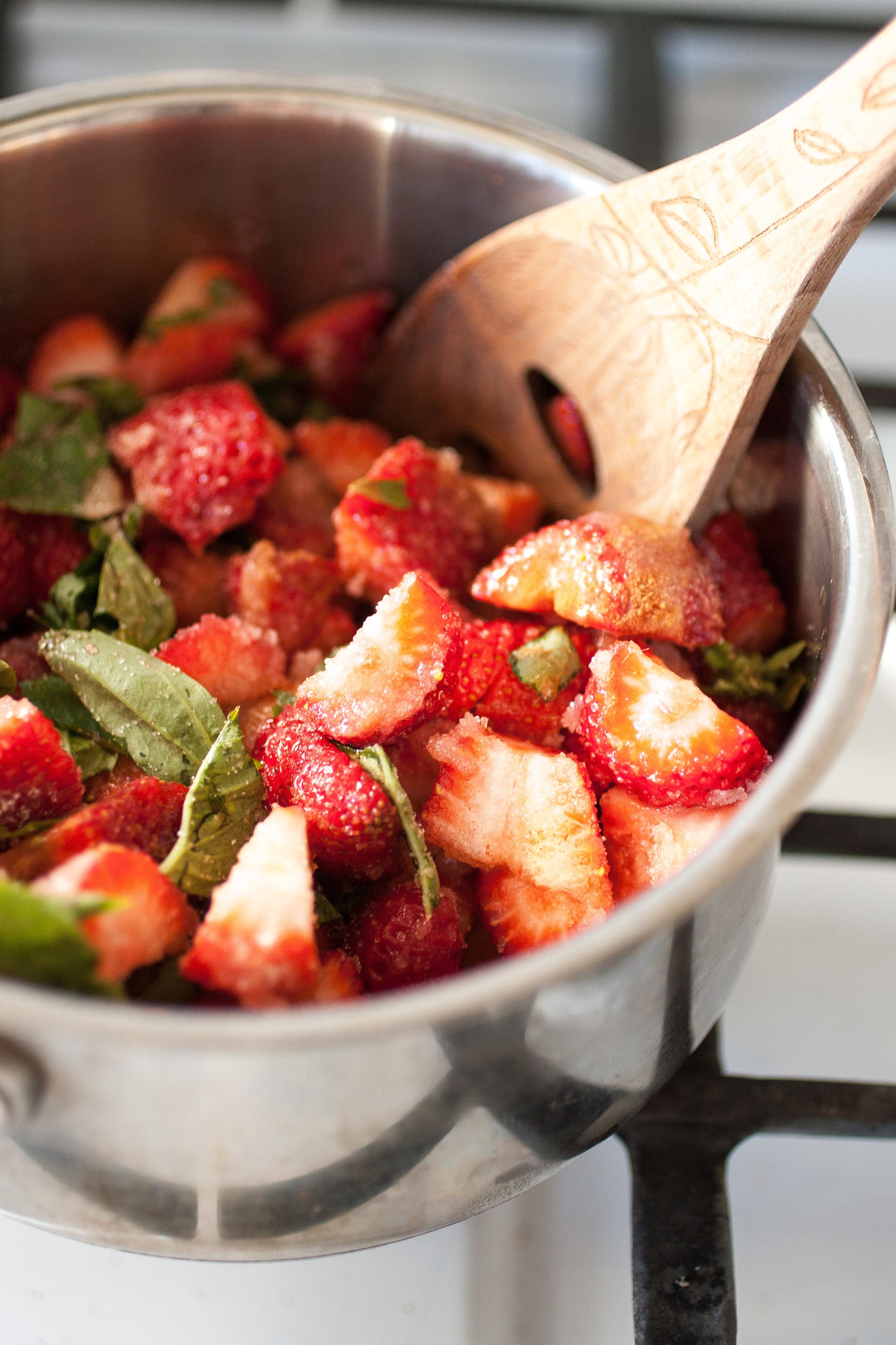 Strawberry Basil Jam or Sauce