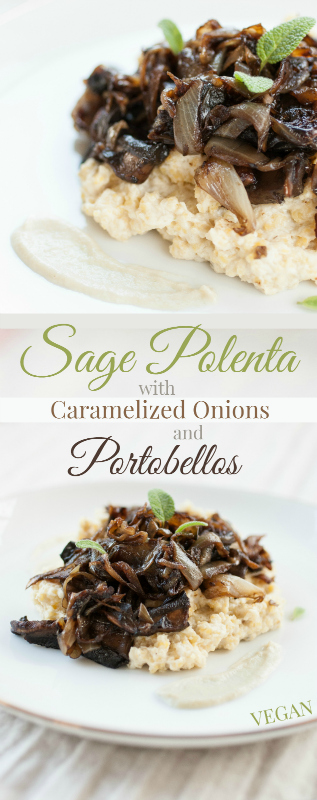 Produce On Parade - Creamy Sage Polenta + Caramelized Onions and Portobellos