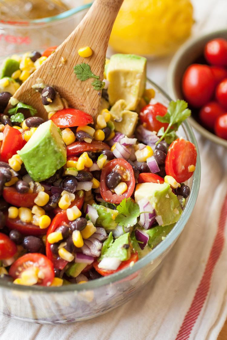 Summer Corn, Avocado, and Black Bean Salad