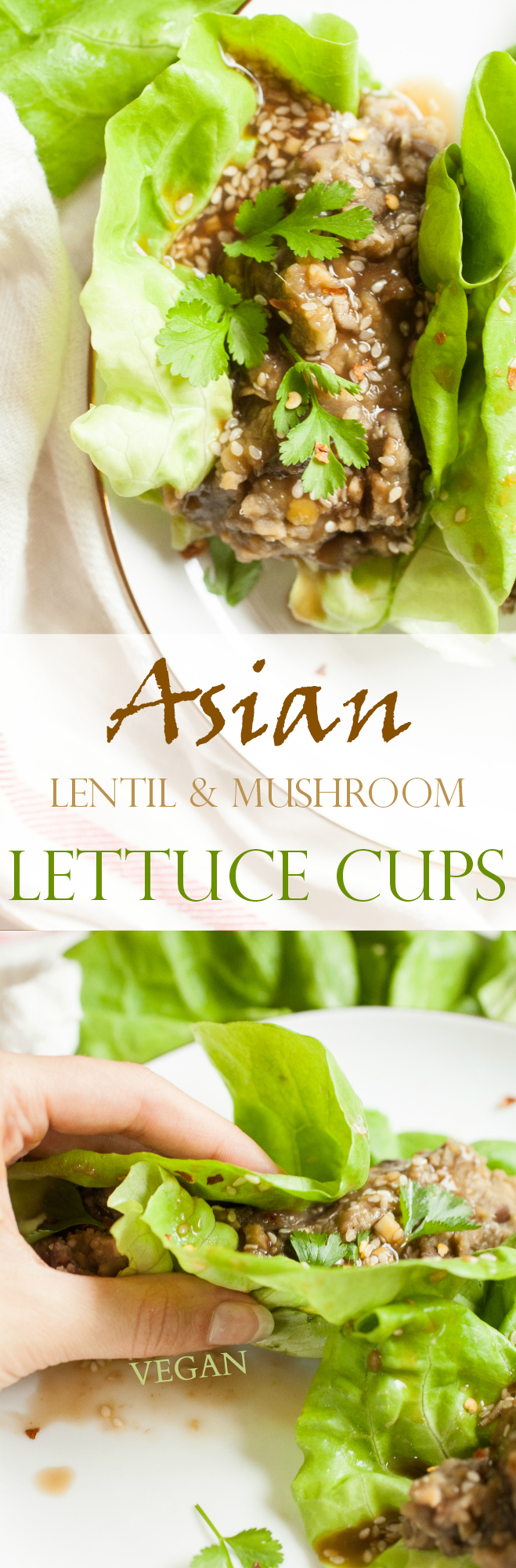 Produce On Parade - Asian Lentil & Mushroom Lettuce Cups