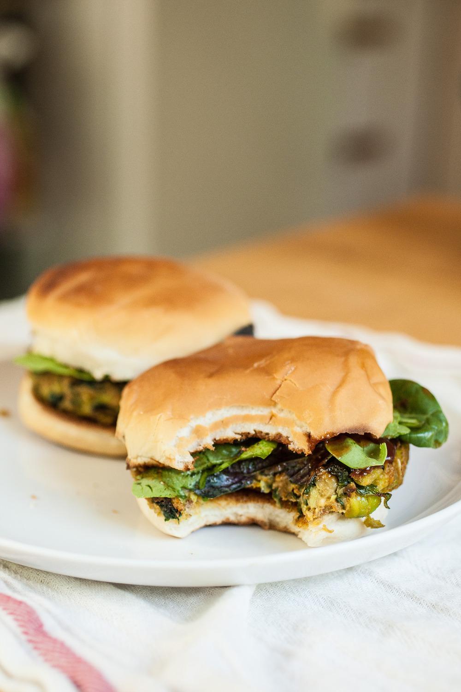 Produce On Parade - Tahini Edamame Burger